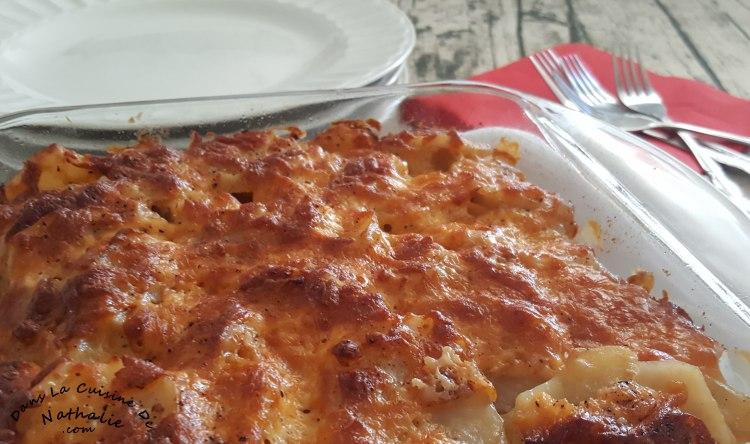 Gratin de pommes de terre aux oignons caramélisés
