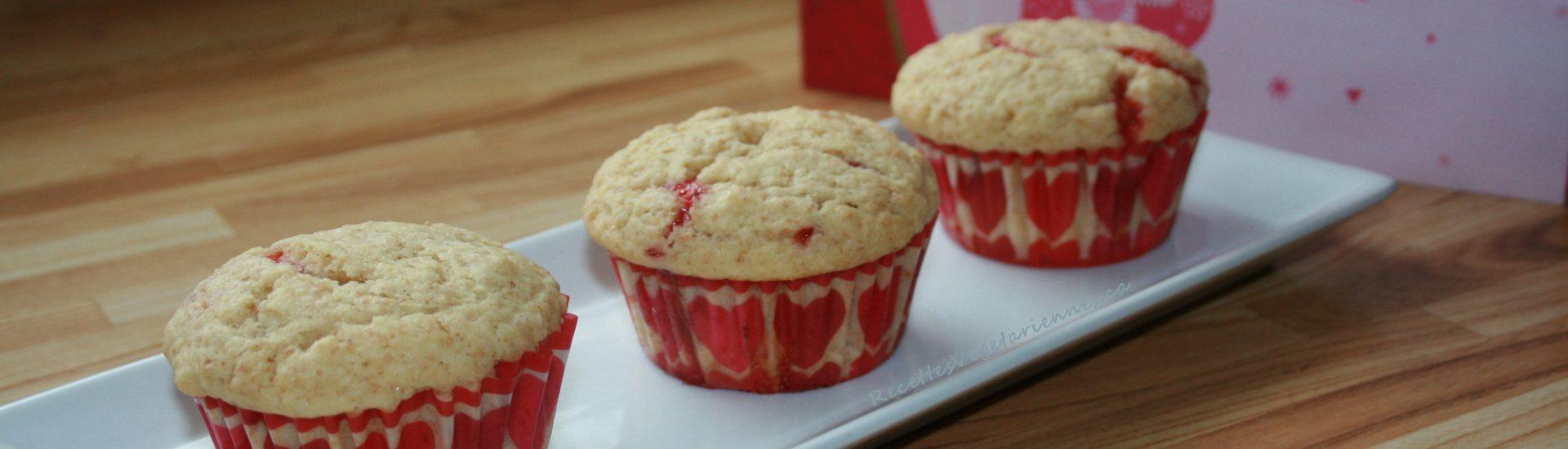Muffins à la confiture de fraise