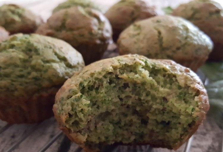 Muffins aux épinards et bananes