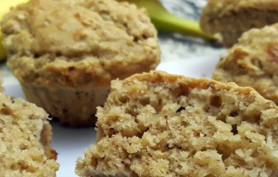 Muffins au beurre d'arachide et bananes