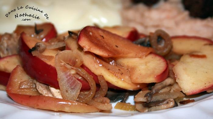 Poêlée de champignons et de pommes