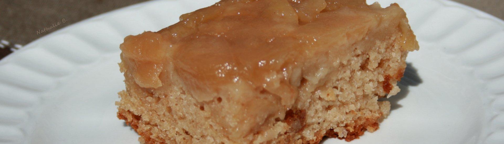 Gâteau renversé aux pommes et à l'érable