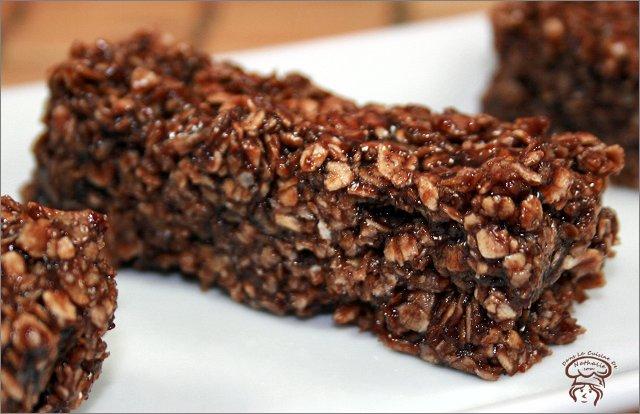 Barres chocolatées à l'avoine