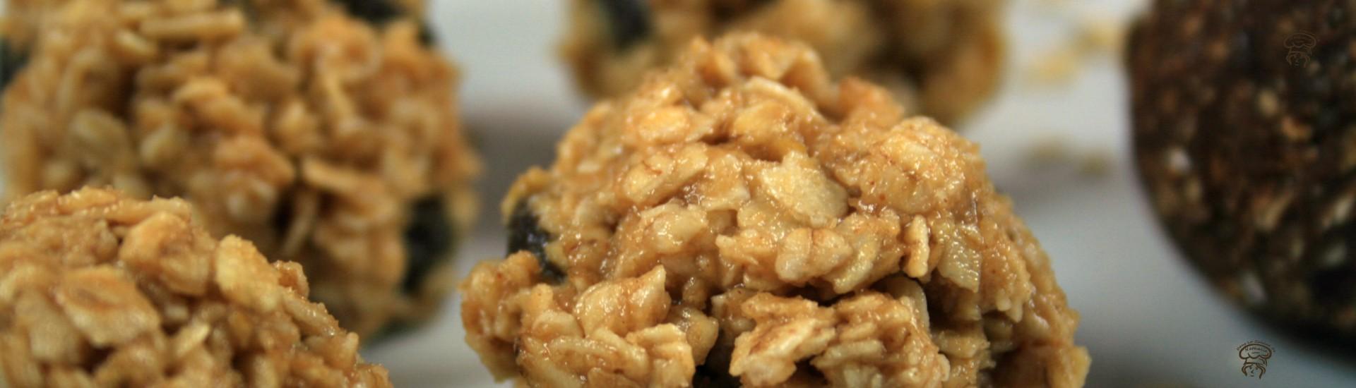 Bouchées au gruau et beurre d'arachides