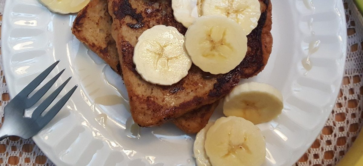 Pain perdu à la banane sans oeuf
