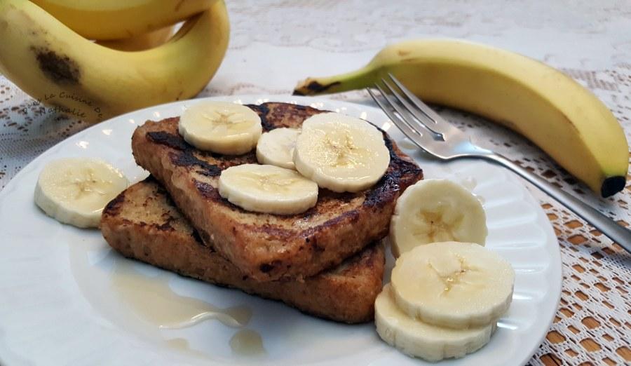Pain doré à la banane et cannelle