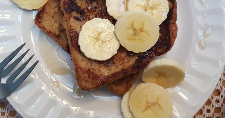 Pain perdu à la banane et cannelle (pain doré)