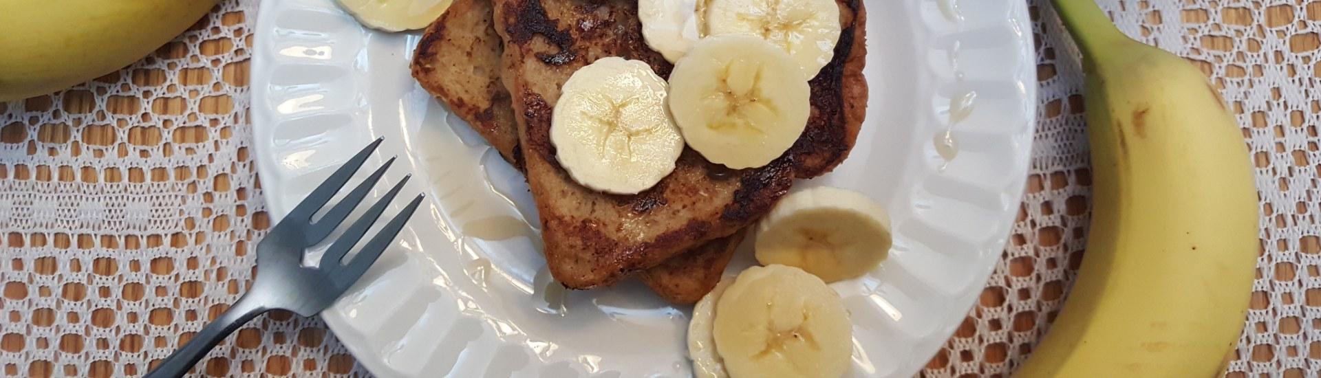 Pain perdu à la banane et cannelle