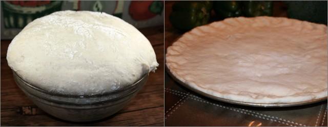 Pâte à pizza vegan avant cuisson