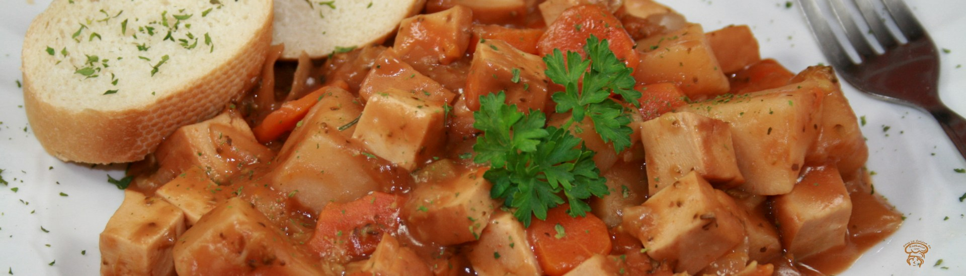 Ragoût de tofu fumé à la mijoteuse
