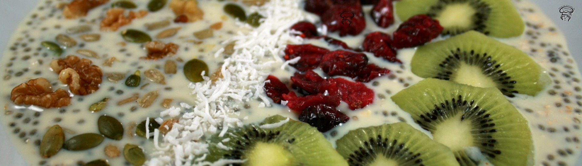 Overnight oats au kiwi et canneberges