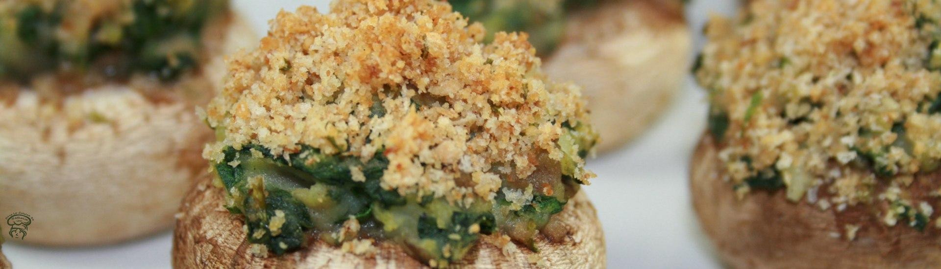 Champignons farcis aux épinards