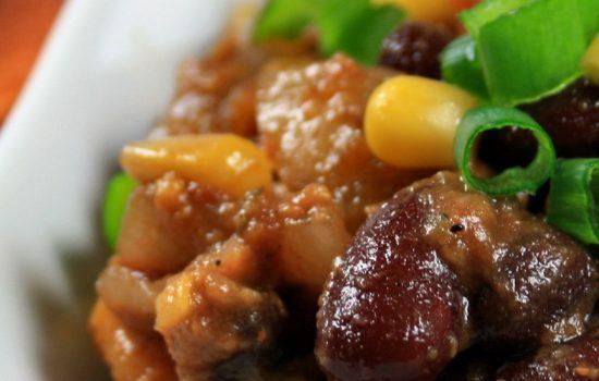 Chili aux patates douces à la mijoteuse