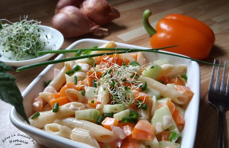Salade de pâtes potluck ou pique-nique