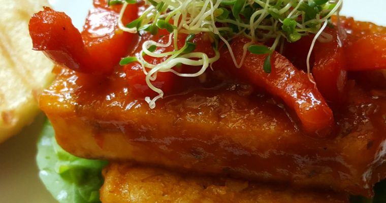Burger au tofu Général Tao