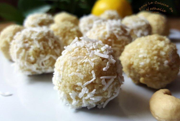 Boules d'énergie au citron et noix de coco