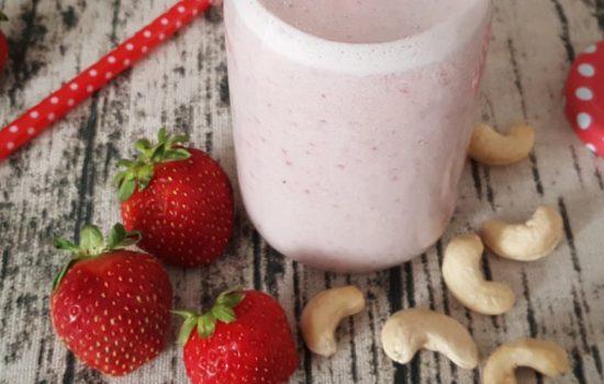 Lait santé aux fraises