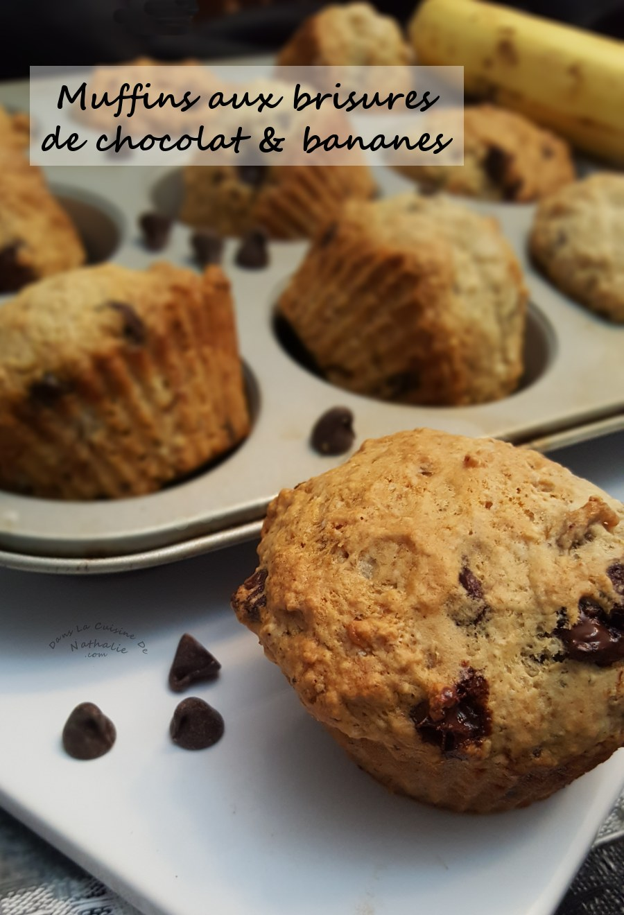 Muffins gourmands aux brisures de chocolat