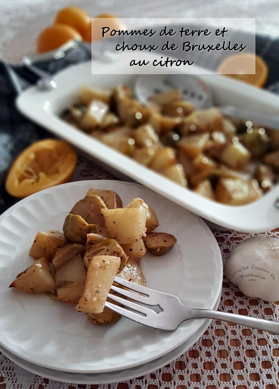 Casseroles de patates et choux de Bruxelles