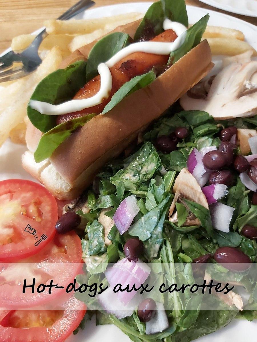 Hot-dog végane aux carottes