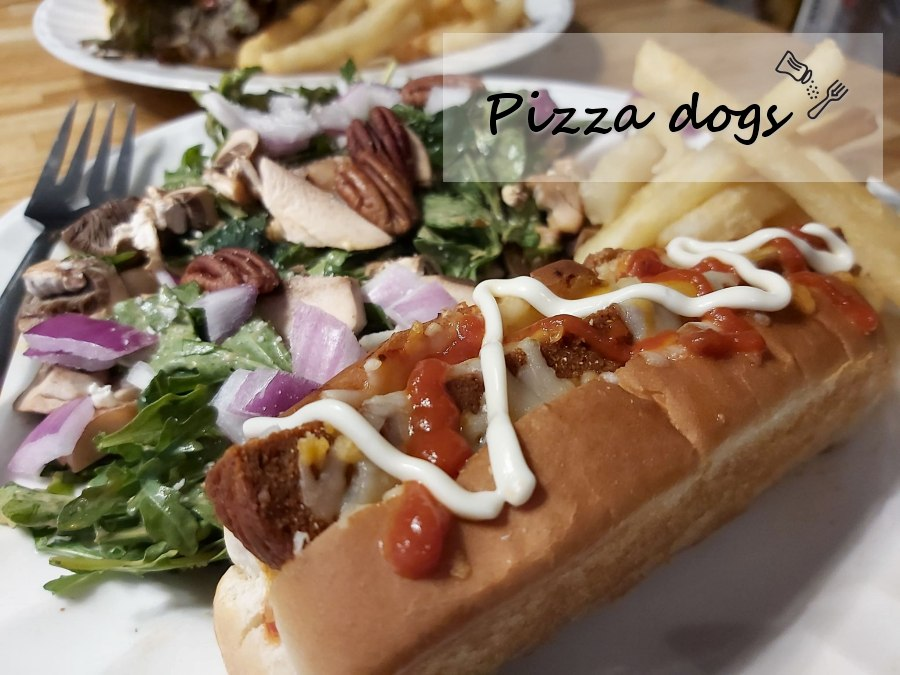 Hot-dogs à pizza végane